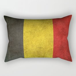 Old and Worn Distressed Vintage Flag of Belgium Rectangular Pillow