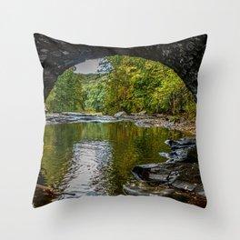 Under the Stone Bridge Throw Pillow