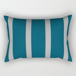 Teal and gray striped pattern Rectangular Pillow