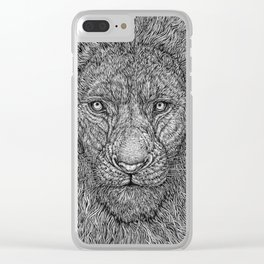 The Lion King of the Jungle by Kent Chua Clear iPhone Case