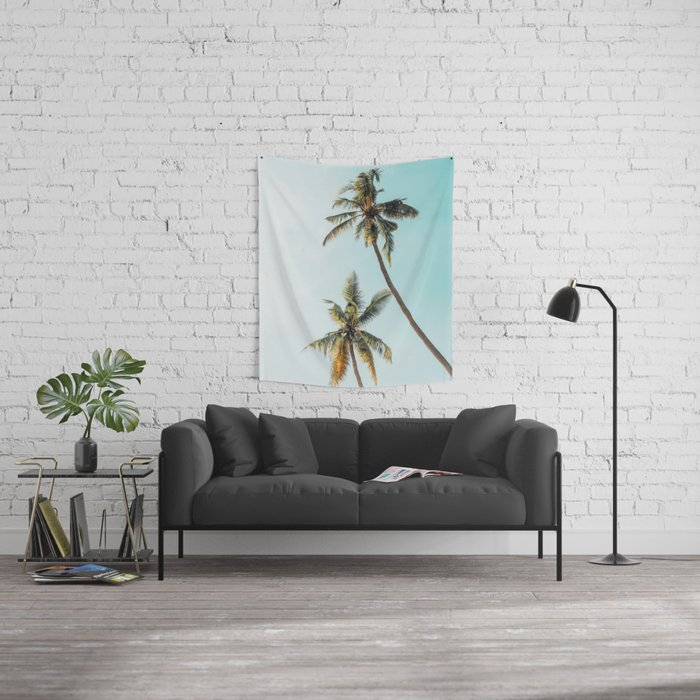 Palm Tree Beach Summer Wall Tapestry