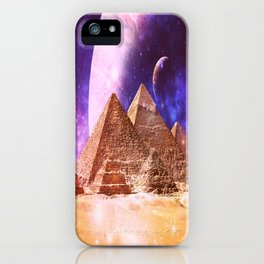 Galaxy Pyramids iPhone Case