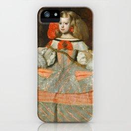 "Diego Velázquez ""Infanta Margarita Teresa in a Silver Dress"" iPhone Case"