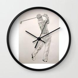 Hyperrealistic Golfer-Handdrawn Wall Clock