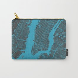 New York - Blue Carry-All Pouch