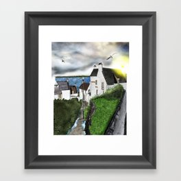 "The ""Hie Gait"" in Dysart, Scotland: Architecture Art Print [Clouds will drift version] Framed Art Print"