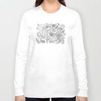 paisley Long Sleeve T-shirts featuring Paisley by Janet Guevara