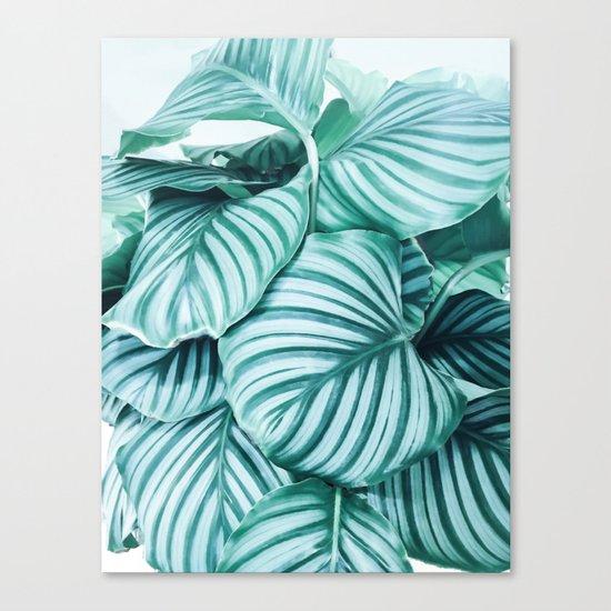 Long embrace - teal green Canvas Print