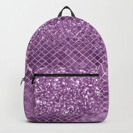 Chic elegant geometric purple lavender gradient glitter Backpack