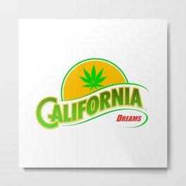 California Hemp Dreams Metal Print