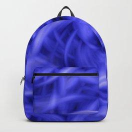 Background Flames Blue Backpack