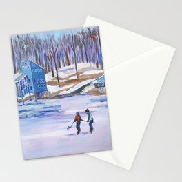 Lake Banook in Winter Stationery Cards