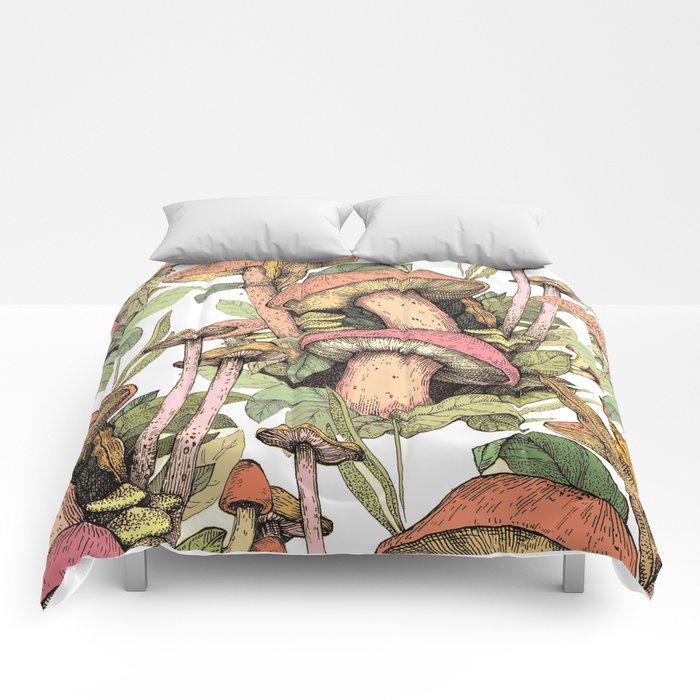 mushrooms in the wild Comforters