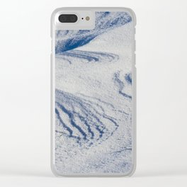 Snow drifts in winter Clear iPhone Case