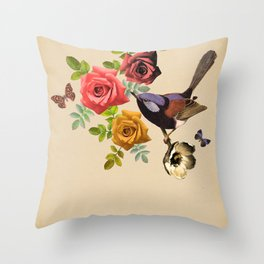 Song Bird 4 Throw Pillow