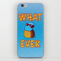 puppycat iPhone & iPod Skins featuring Whatever by ohzemesmo