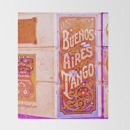 Tango Buenos Aires, Argentina. Throw Blanket