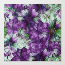 Violets and Greens Canvas Print