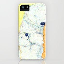 white bear iPhone Case