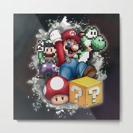 Mario et ses amis Metal Print