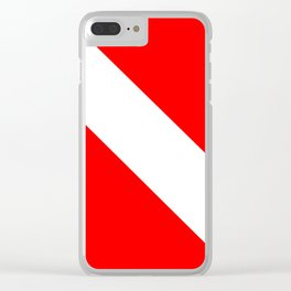Dive Flag Clear iPhone Case