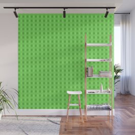 Lime Green Retro Squares Wall Mural