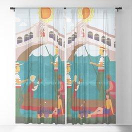 Venice Italy 2 Sheer Curtain
