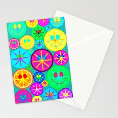 Happy Smiley face Stationery Cards