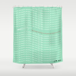 Paper Airplane - You Can Fly - Typography - Julep Shower Curtain
