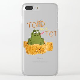 TOAD ON A TOT Clear iPhone Case