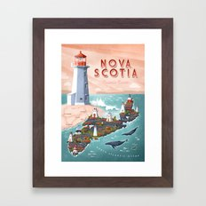 NOVA SCOTIA Framed Art Print