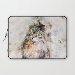 Duchess Watercolor Cat Laptop Sleeve