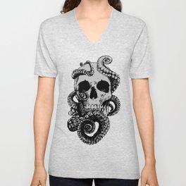 Skull & Octopus Unisex V-Neck