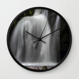 Waterfall at Lumsdale Mill Wall Clock