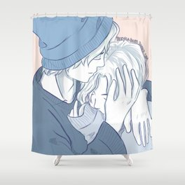 Willabeth New Year's Kisses Shower Curtain