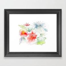 My flowers garden Framed Art Print