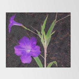 Mexican Petunias Throw Blanket