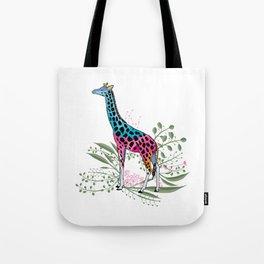 Happy Spring Giraffe Tote Bag