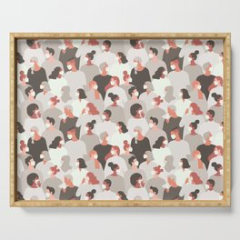 Face Mask People Pattern Serving Tray