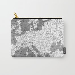 Vintage Map of Europe (1804) BW Carry-All Pouch
