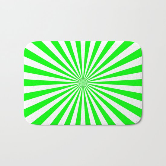 Starburst (Green/White) Bath Mat