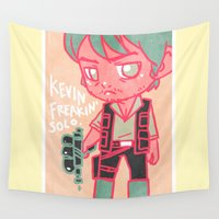 kevin russ Wall Tapestries featuring Kevin Freakin' Solo by Ravenno