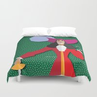 hook Duvet Covers featuring Captain Hook by AmadeuxArt