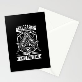 Masons Distribute Love And Not Hatred Fear Stationery Cards