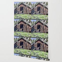 Old Western Barn Wallpaper