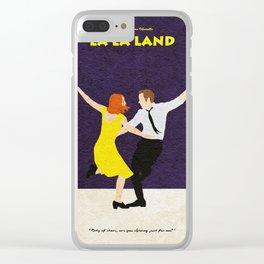 La La Land Alternative Minimalist Film Poster Clear iPhone Case