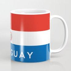 Paraguay country flag name text Mug