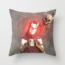 Red Foxxya Throw Pillow