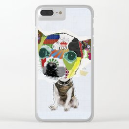 Chihuahua Colorful Dog POP Art Collage Clear iPhone Case