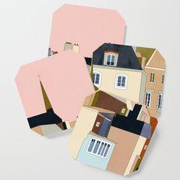 france brittany houses shape art Coaster